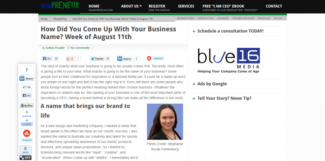 Image CEO Blognation HEARPRENEUR article