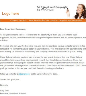 Email Template example for email marketing