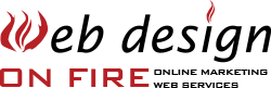 Web Design on Fire Logo